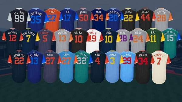 New MLB Players Weekend uniforms.