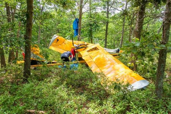 A single-engine ultralight plane went down in a