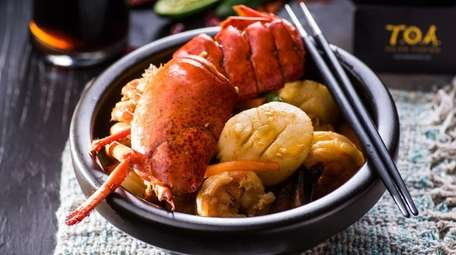 Seafood Delight, with shrimp, scallops and lobster, is