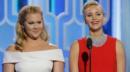 Amy Schumer and Jennifer Lawrence at the Golden