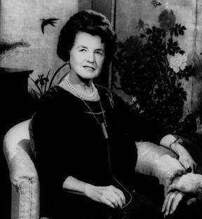 Rose Kennedy, the mother of President John F.