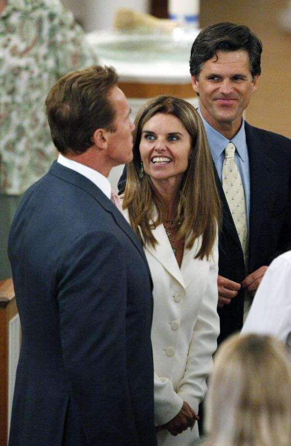 California Gov. Arnold Schwarzenegger, his wife Maria Shriver,