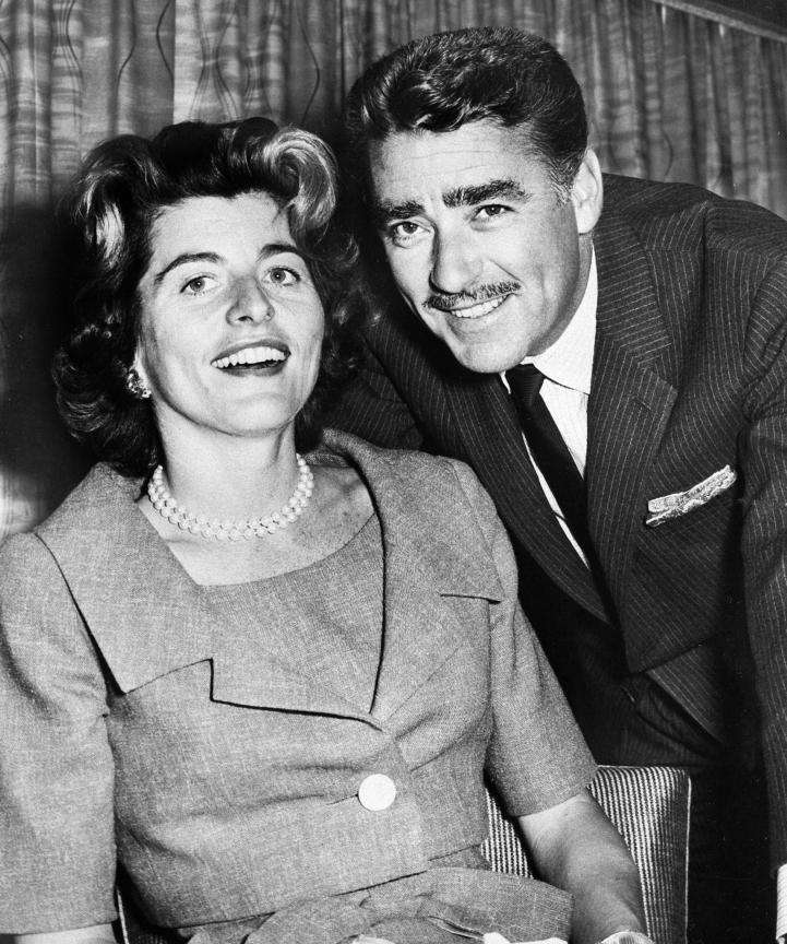 Actor Peter Lawford and his wife, the former