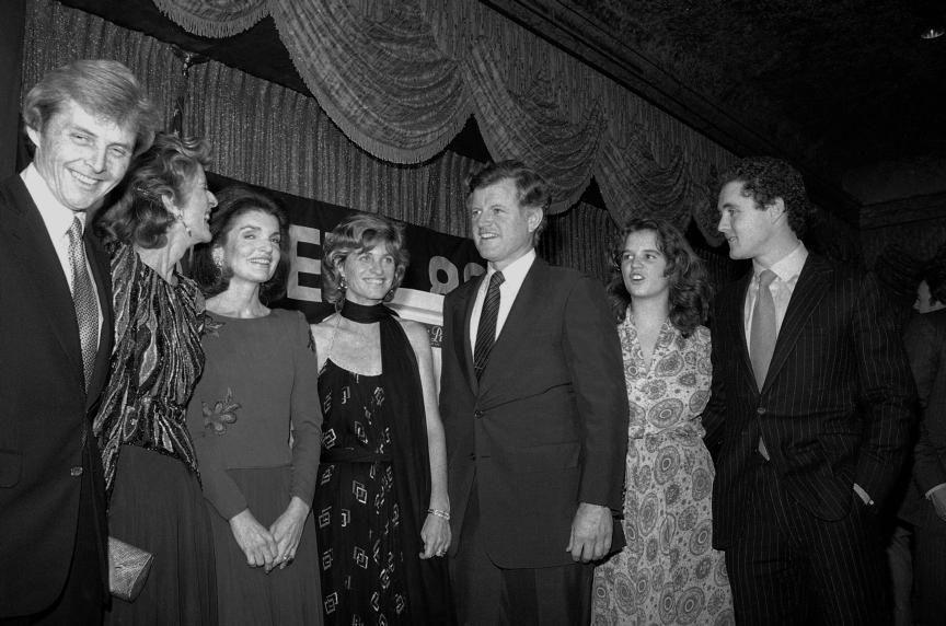Presidential candidate Sen. Edward M. Kennedy (D-Mass.) attends