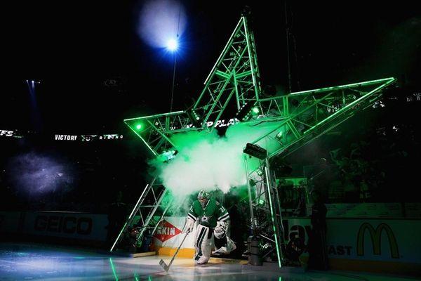 Kari Lehtonen #32 of the Dallas Stars skates