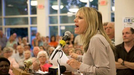 Agatha Nadel, of Glen Head, questions New York