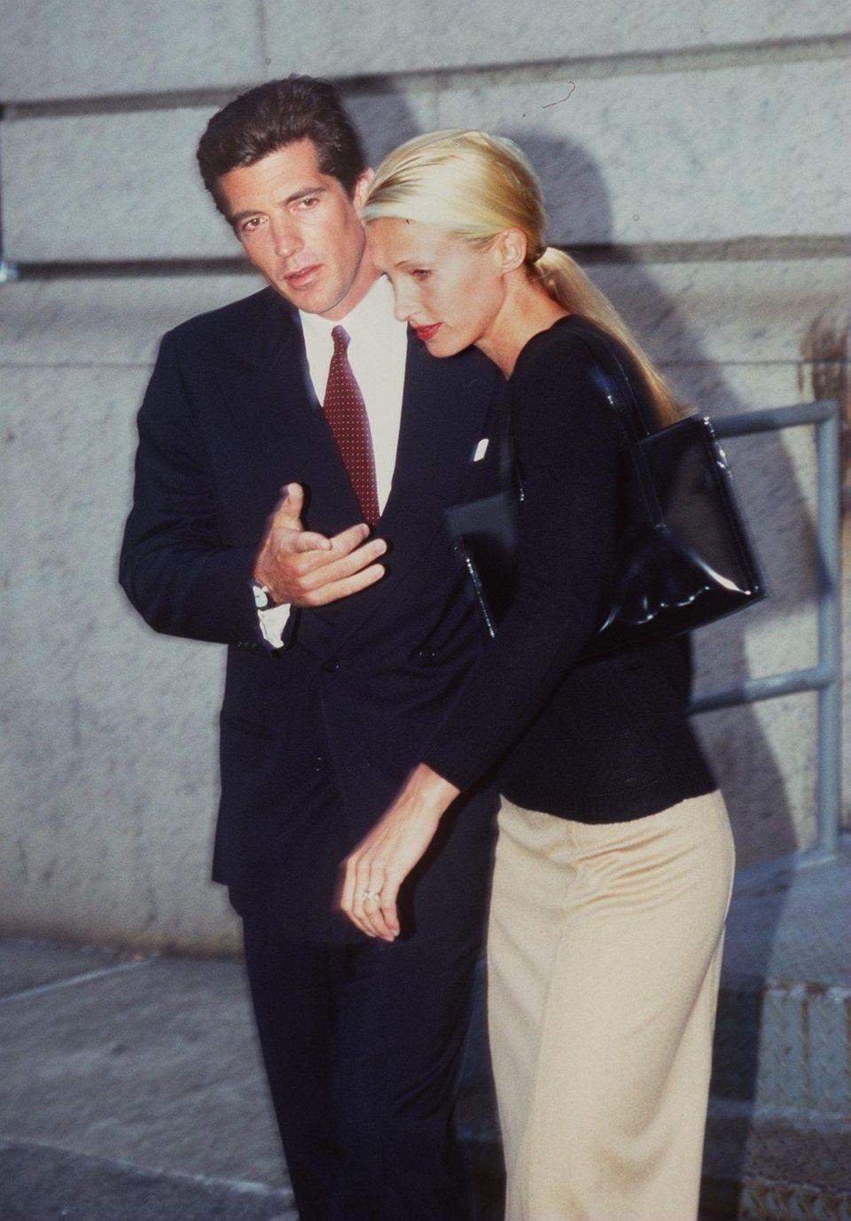 John Kennedy Jr. and his new wife, Carolyn