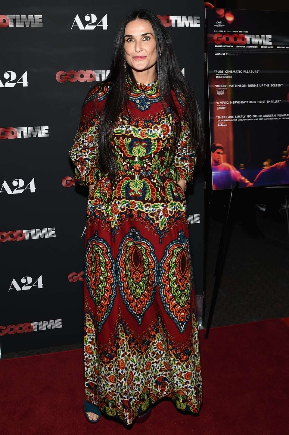 Demi Moore attends the premiere of her new