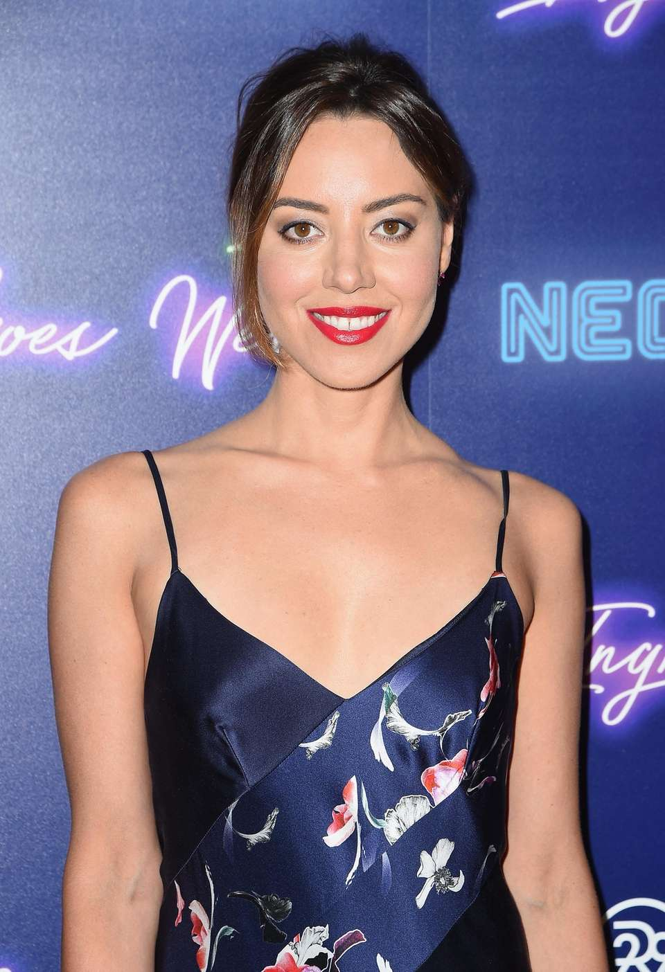 Aubrey Plaza attends the New York premiere of