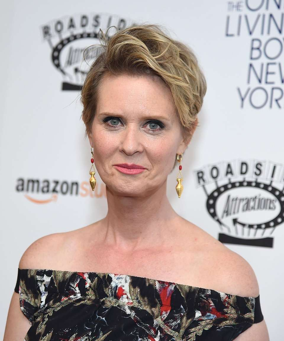 Cynthia Nixon attends the New York premiere of