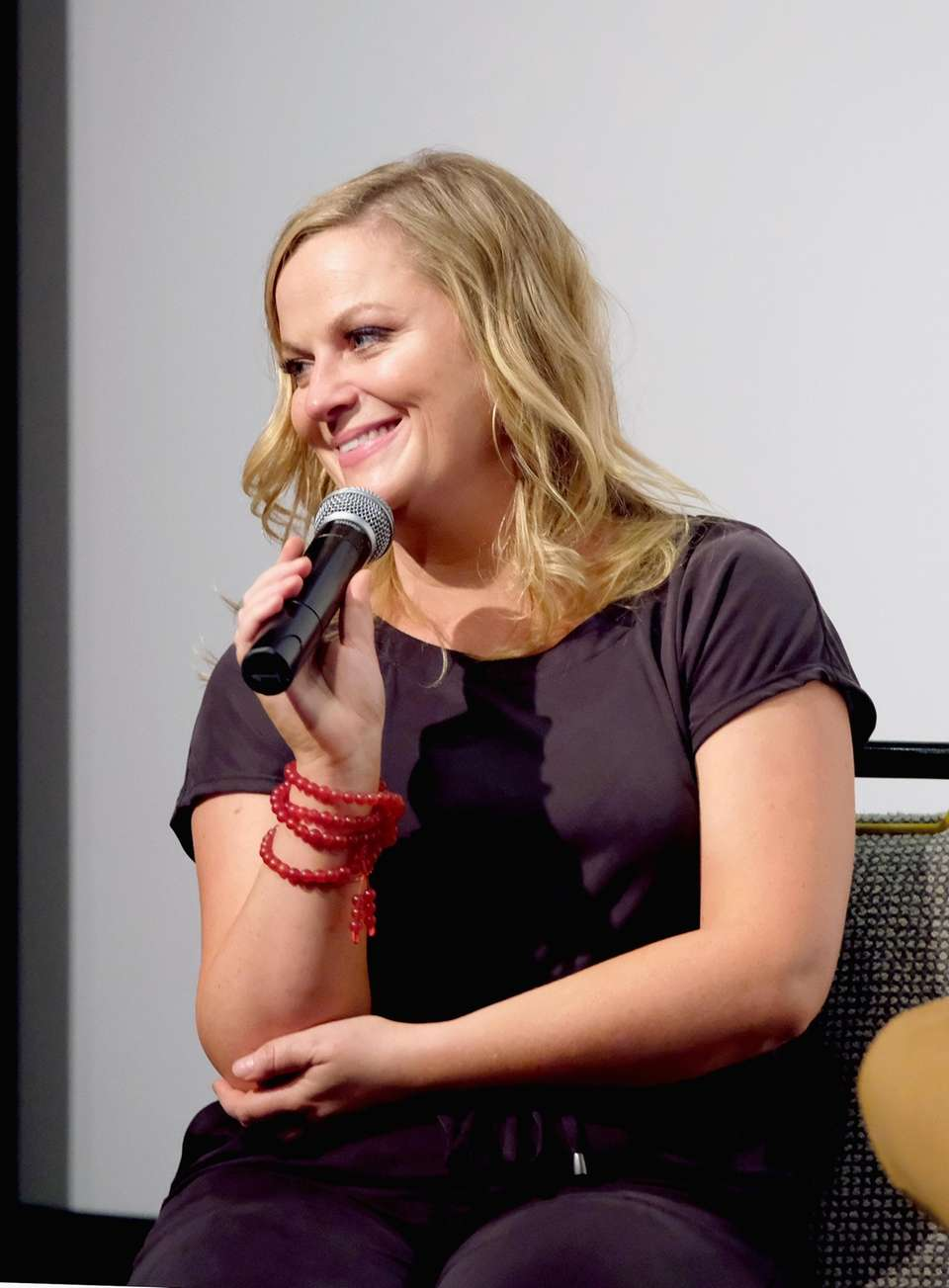 Amy Poehler speaks during a screening of the