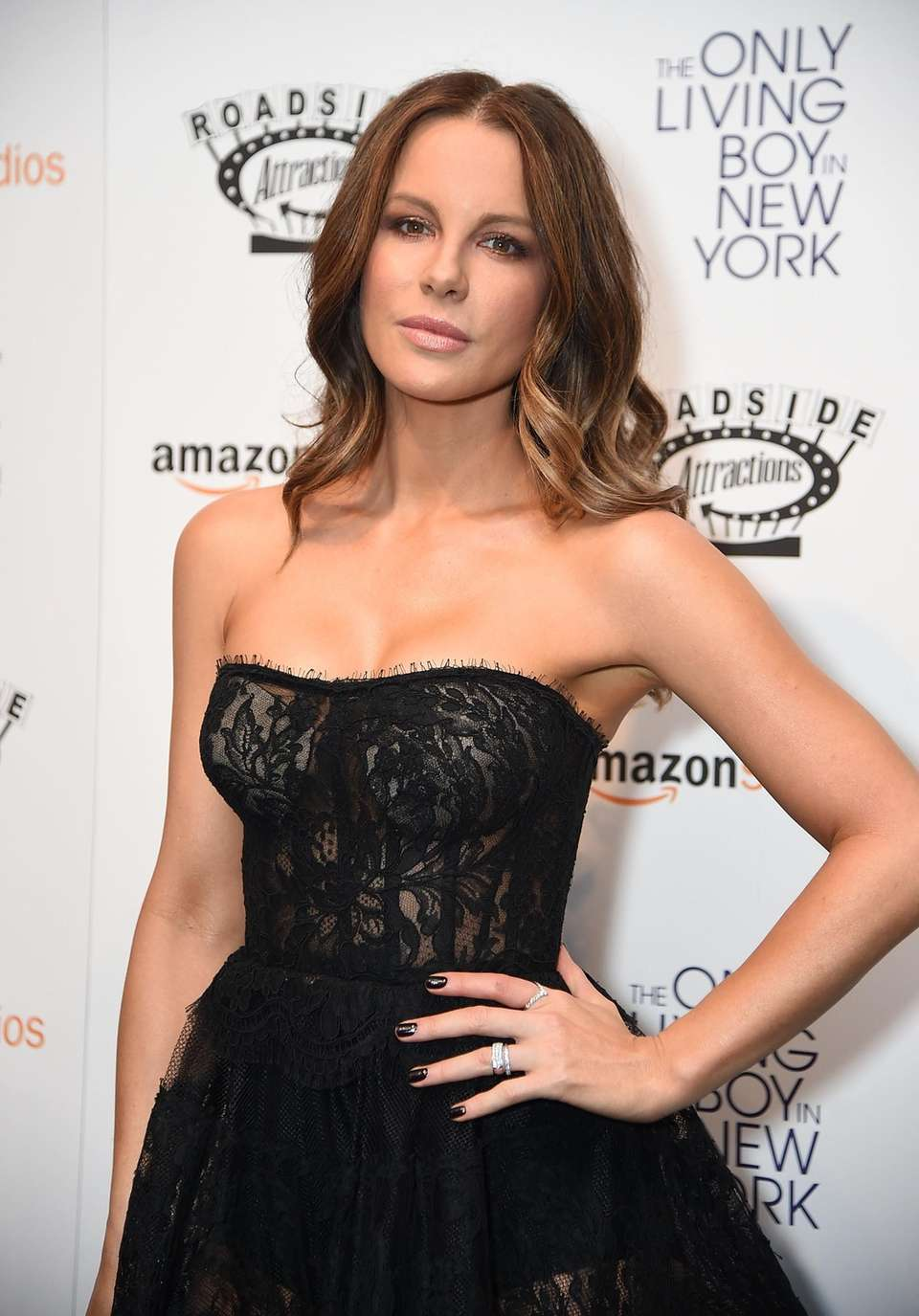 Kate Beckinsale attends the New York premiere of