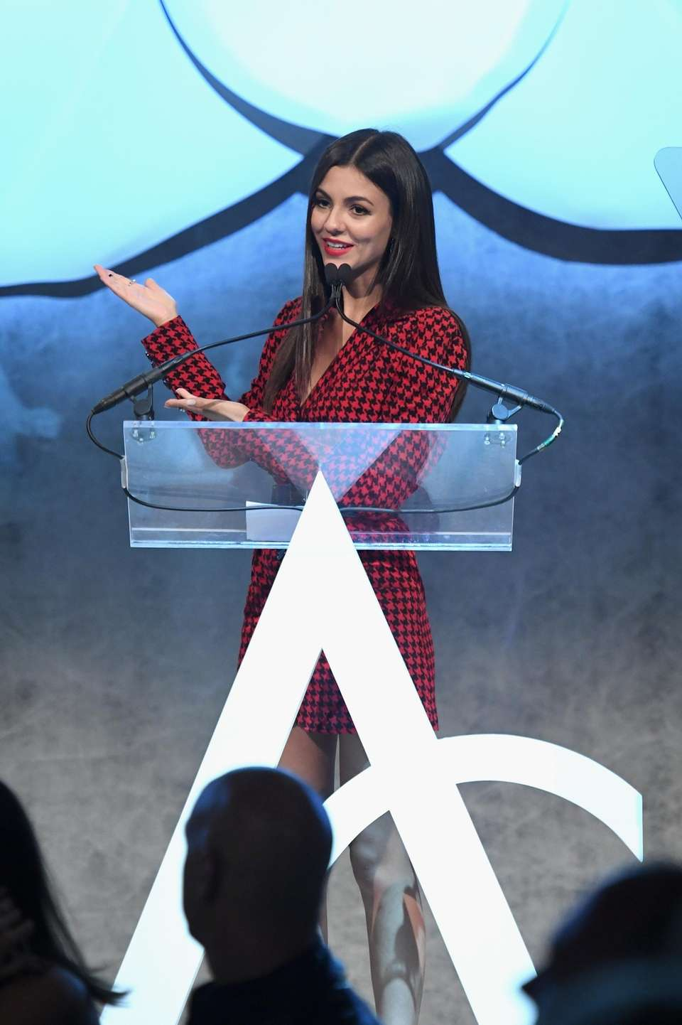 Victoria Justice speaks at the Accessories Council's 21st