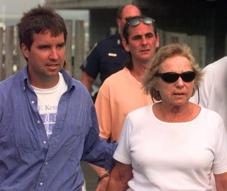 Douglas Kennedy escorts his mother Ethel Kennedy, wife