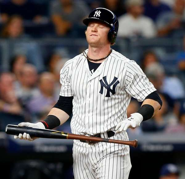 Yankees outfielder Clint Frazier strikes out against the Tampa