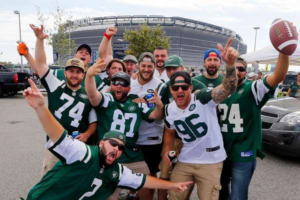 A group of Jets fans before last season's