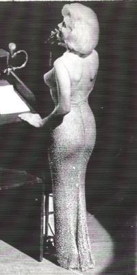The actress Marilyn Monroe sang a smoky