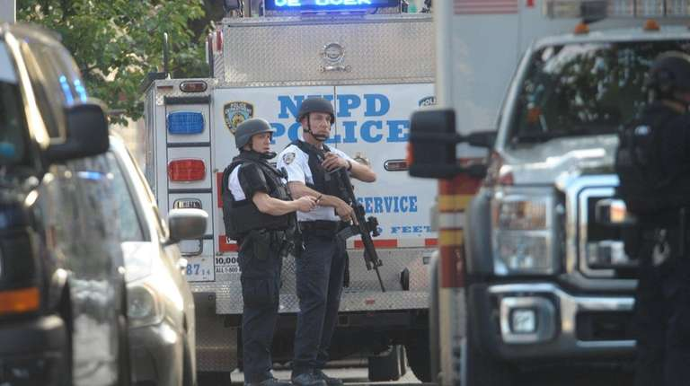An NYPD officer was shot several times in