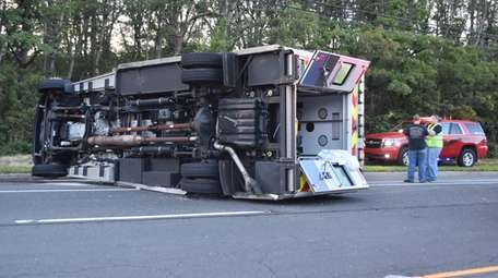 The driver and three occupants were hurt when