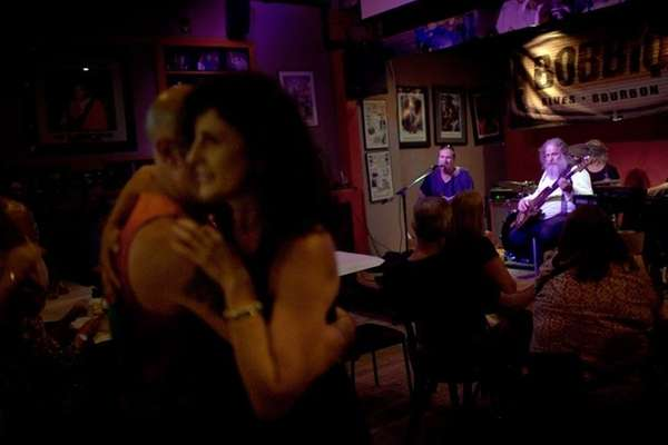 After dinner, patrons dance to music from the
