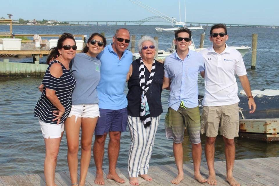 The Aviles Family celebrating twins Kyra and Jacks