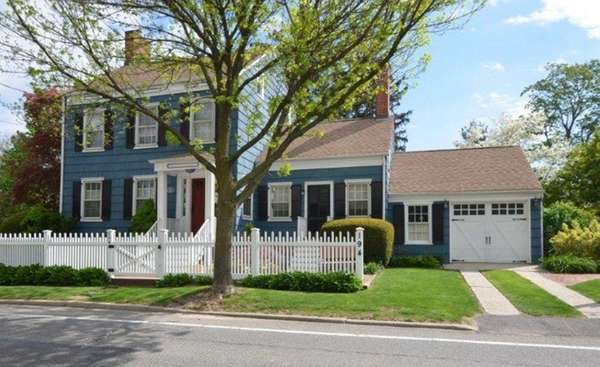 A Federal-style Colonial home in Huntington on the