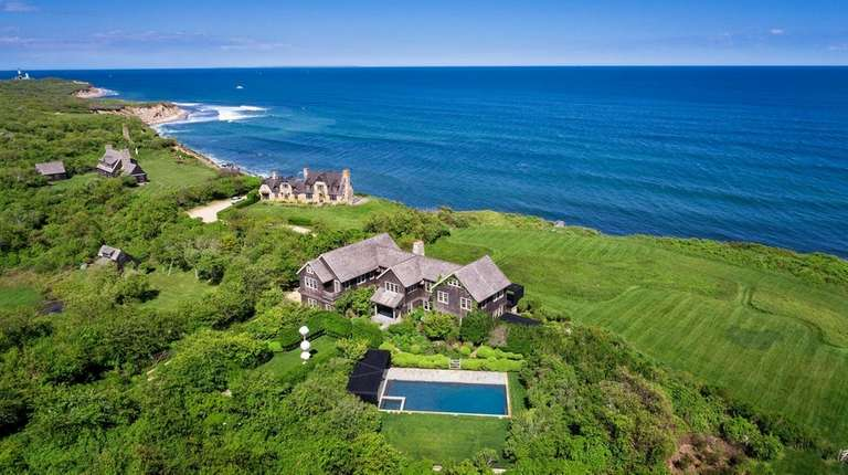 The grounds of the Montauk house include an
