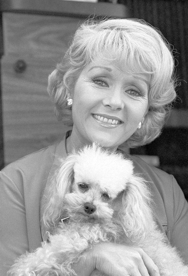 Debbie Reynolds in a studio dressing room, is