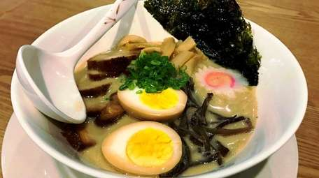 Tonkotsu ramen is one of the specialties on