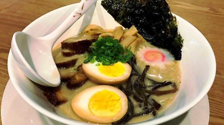 Tonkotsu ramen is one of the specialties on