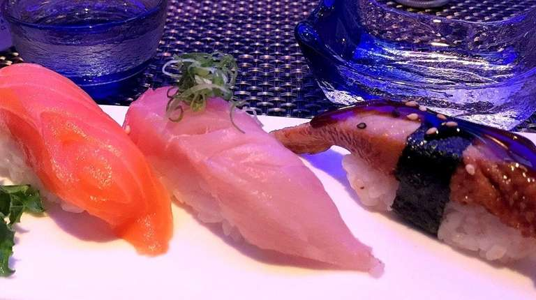 Nigiri sushi at Shiki Asian Bistro in Hauppauge.