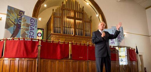 Gov. Terry McAuliffe of Virginia speaks at Sunday