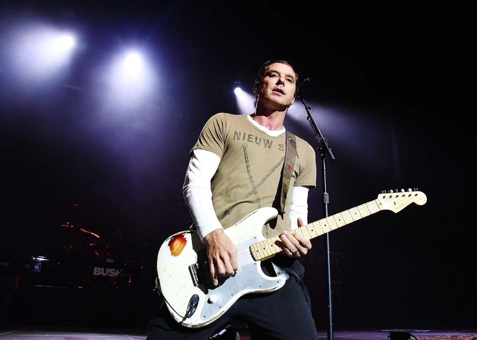 Gavin Rossdale performs with his band Bush at