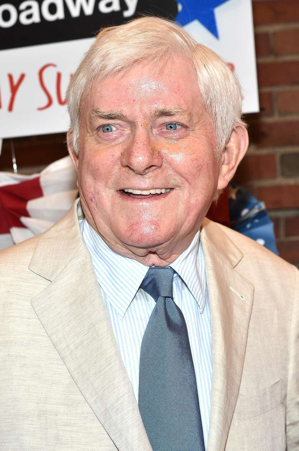 Phil Donahue at the opening night performance of