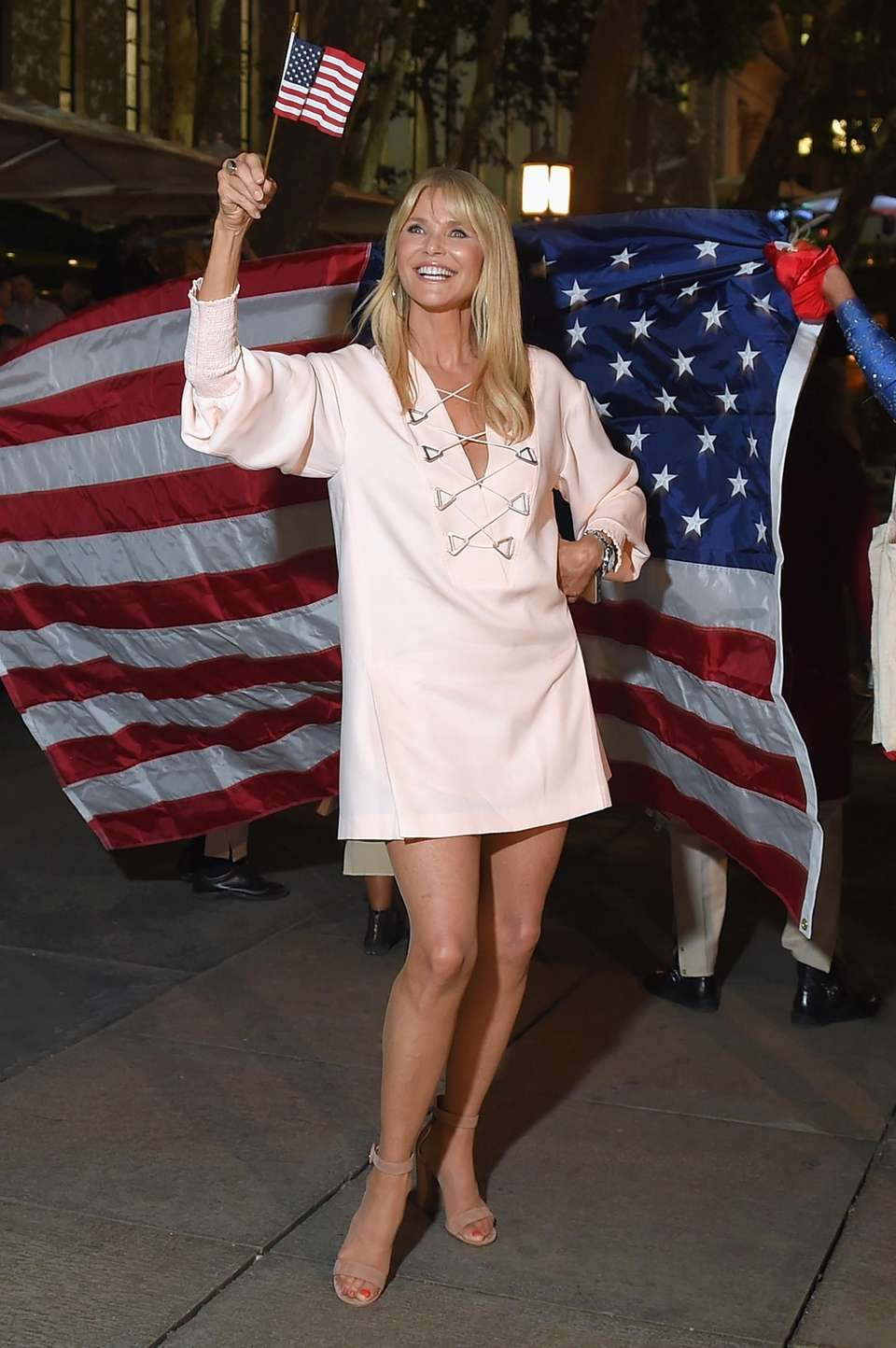 Christie Brinkley at the after-party for the opening