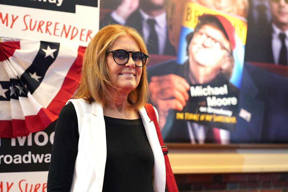 Gloria Steinem at the opening night performance of
