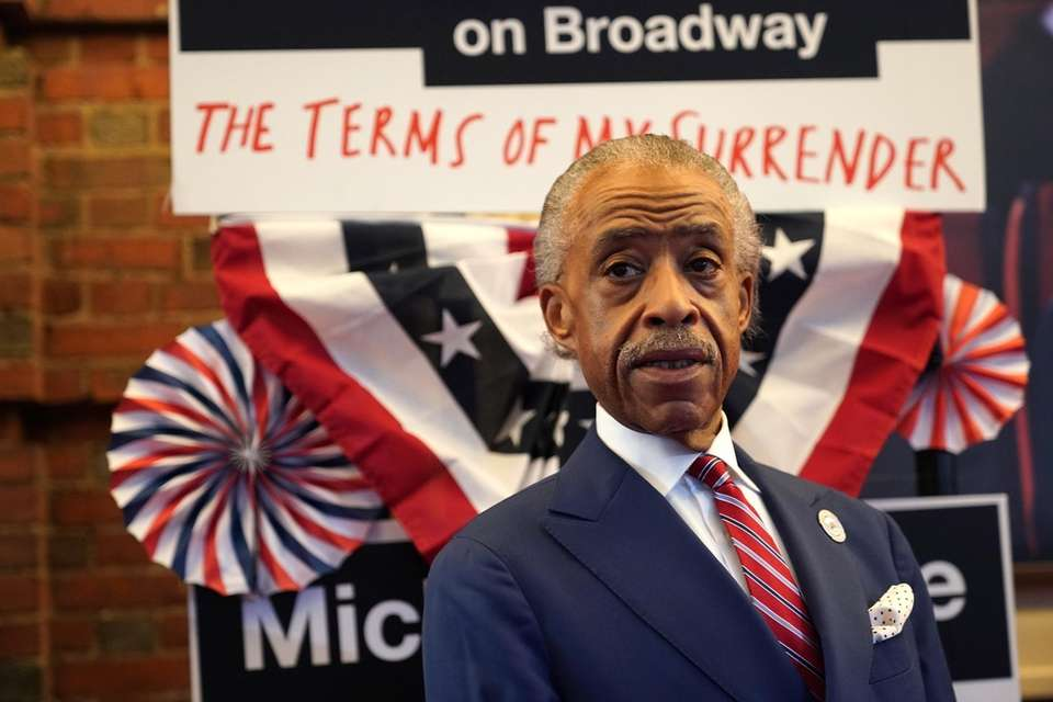 Al Sharpton at the opening night performance of