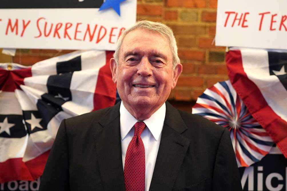 Dan Rather at the opening night performance of
