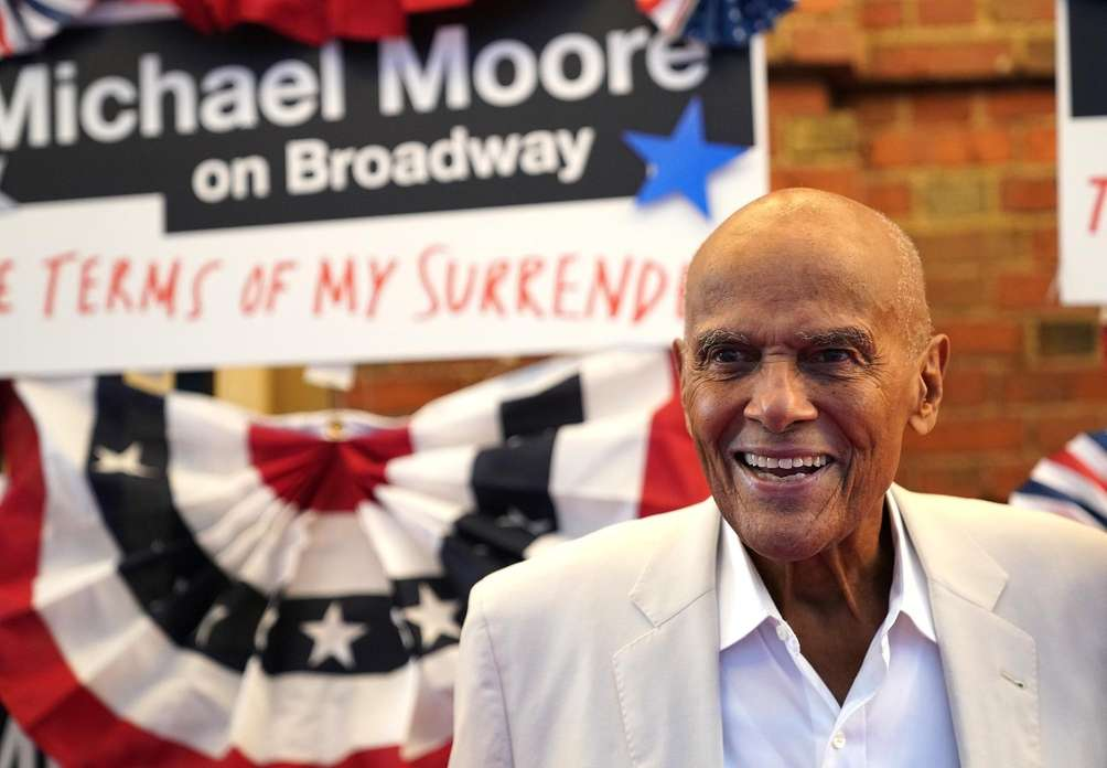 Harry Belafonte at the opening night performance of