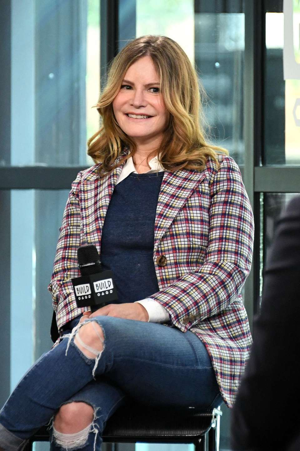 Jennifer Jason Leigh at Build Studio in Manhattan