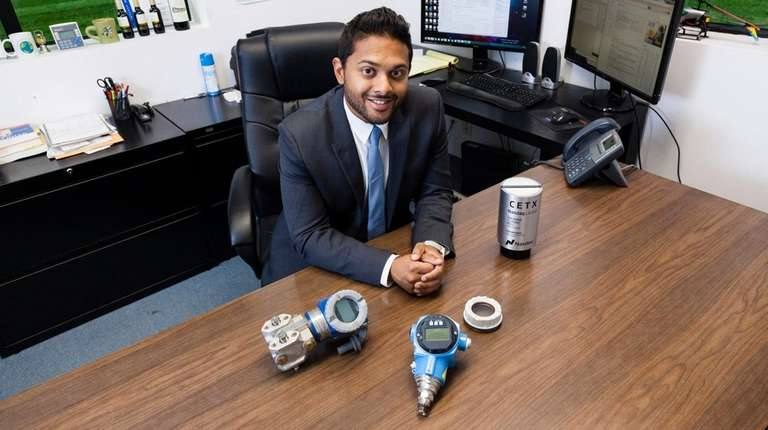 Cemtrex CEO Saagar Govil at the company's Farmingdale