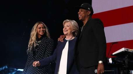 Beyonce, former Secretary of State Hillary Clinton and