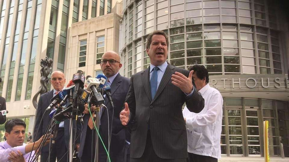Aug 14 presser outside Bklyn federal court by