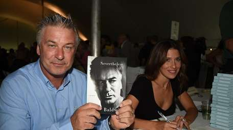 Alec Baldwin and Hilaria attends East Hamptons Library's