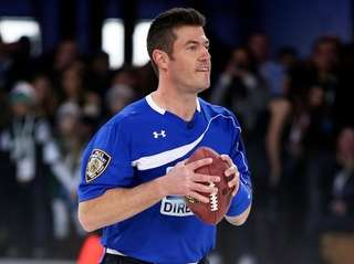 Former New York Giants quarterback Jesse Palmer, seen