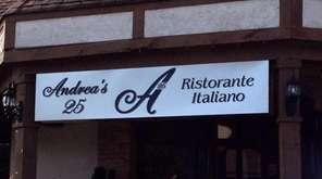 Andrea's 25 restaurant in Woodbury, which opened in