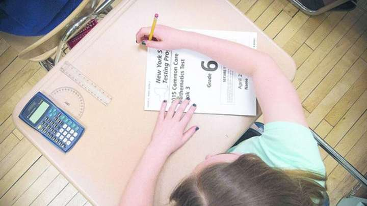 A student prepares to start a Common Core