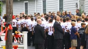 Dozens of Sachem East High School football players