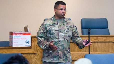 Army National Guard Sgt. Syed Ahmed teaches dozens