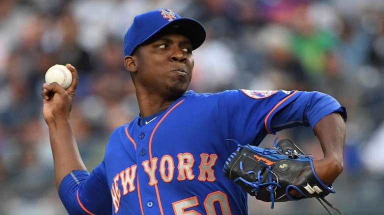 Mets starter Rafael Montero delivers a pitch against